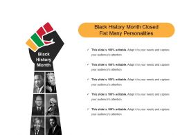 Black History Month Closed Fist Many Personalities