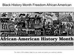 Black History Month Freedom African American