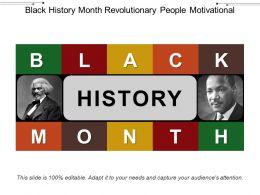 Black History Month Revolutionary People Motivational