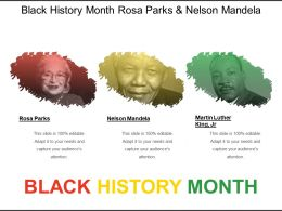 Black History Month Rosa Parks And Nelson Mandela