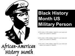 Black History Month Us Military Person