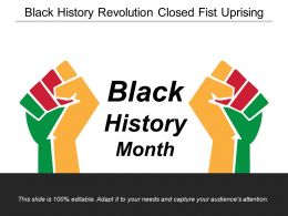 Black History Revolution Closed Fist Uprising