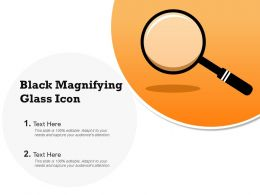 Black Magnifying Glass Icon