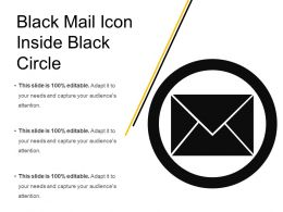 Black Mail Icon Inside Black Circle