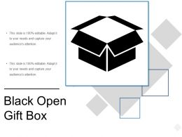 Black Open Gift Box