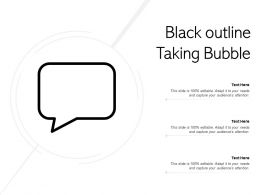 Black Outline Talking Bubble
