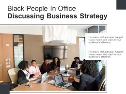 Black People In Office Discussing Business Strategy