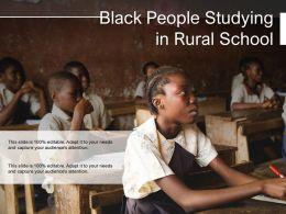 Black People Studying In Rural School