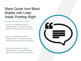Black Quote Icon Black Bubble With Lines Inside Pointing Right