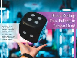Black Rolling Dice Falling In Person Hand