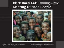 Black Rural Kids Smiling While Meeting Outside People