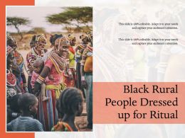 Black Rural People Dressed Up For Ritual
