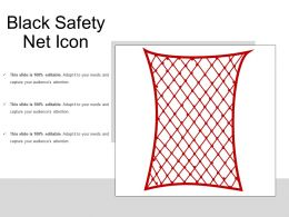 Black Safety Net Icon