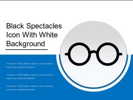 Black Spectacles Icon With White Background