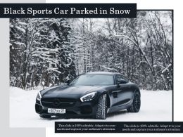 Black Sports Car Parked In Snow
