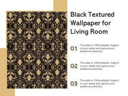 Black Textured Wallpaper For Living Room