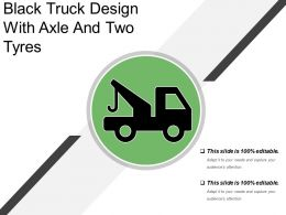 Black Truck Design With Axle And Two Tyres