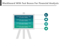 Blackboard With Text Boxes For Financial Analysis Powerpoint Slides