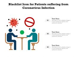 Blacklist Icon For Patients Suffering From Coronavirus Infection