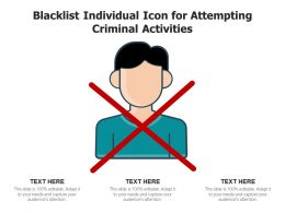Blacklist Individual Icon For Attempting Criminal Activities