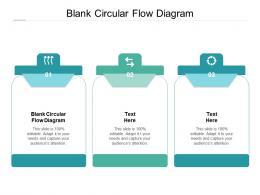 Blank Circular Flow Diagram Ppt Powerpoint Presentation Gallery Styles Cpb
