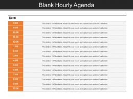 Blank Hourly Agenda Good Ppt Example