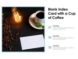 Blank Index Card With A Cup Of Coffee