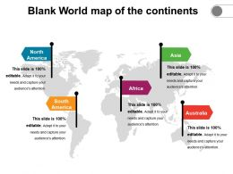 Blank World Map Of The Continents