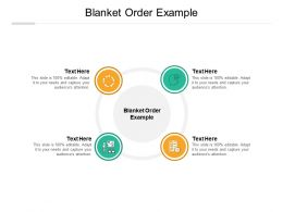 Blanket Order Example Ppt Powerpoint Presentation Slides Elements Cpb