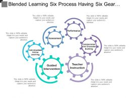 Blended Learning Six Process Having Six Gear And Bending Arrow