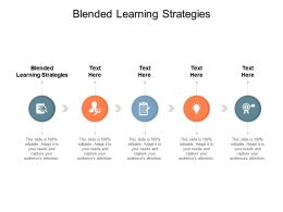 Blended Learning Strategies Ppt Powerpoint Presentation Infographic Template Example Introduction Cpb