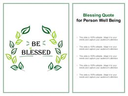 Blessing Quote For Person Well Being
