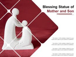 Blessing Statue Of Mother And Son