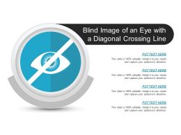 Blind Image Of An Eye With A Diagonal Crossing Line