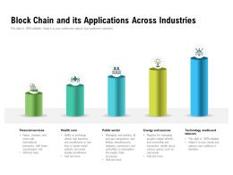 Block Chain And Its Applications Across Industries