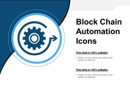 Block Chain Automation Icons Powerpoint Images