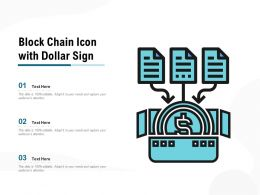 Block Chain Icon With Dollar Sign