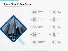 Block Chain In Real Estate Blockchain Architecture Design And Use Cases Ppt Topics