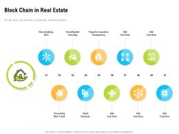 Block Chain In Real Estate Transparency Ppt Powerpoint Presentation Introduction