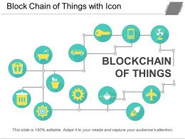 Block Chain Of Things With Icon