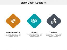 Block Chain Structure Ppt Powerpoint Presentation Pictures Design Templates Cpb