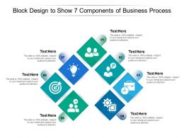 Block Design To Show 7 Components Of Business Process