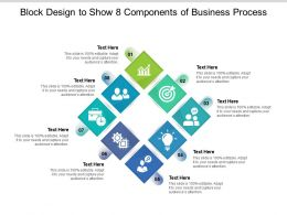 Block Design To Show 8 Components Of Business Process