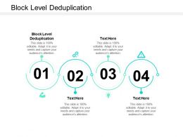 Block Level Deduplication Ppt Powerpoint Presentation Portfolio Background Image Cpb
