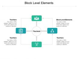 Block Level Elements Ppt Powerpoint Presentation Pictures Infographic Template Cpb