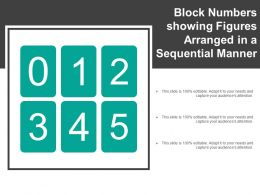 Block Numbers Showing Figures Arranged In A Sequential Manner