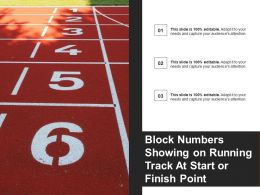 Block Numbers Showing On Running Track At Start Or Finish Point
