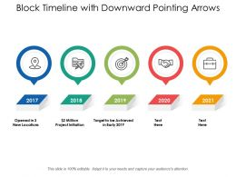 Block Timeline With Downward Pointing Arrows