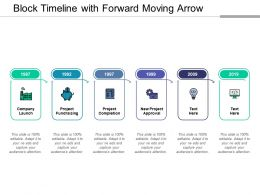 Block Timeline With Forward Moving Arrow