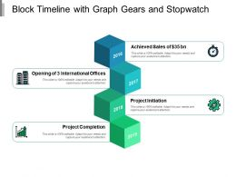 Block Timeline With Graph Gears And Stopwatch